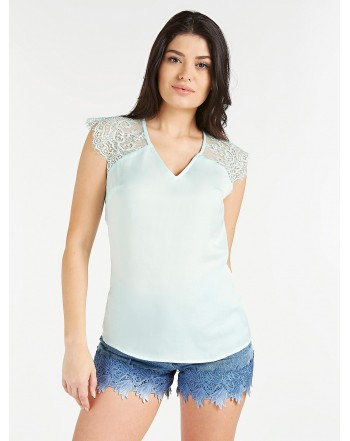 GUESS top  in pizzo verde
