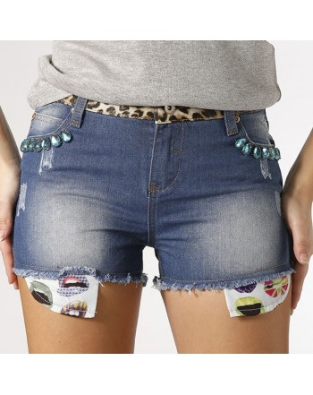 Shorts denim maculati  GIO' CELLINI