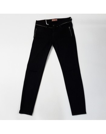 a) Pantalone jeans KONTATTO nero