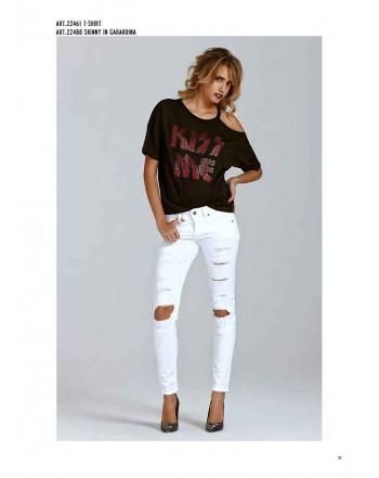 Pantalone skinny SHOP*ART bianco