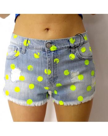 NICE  Shorts pois gialli