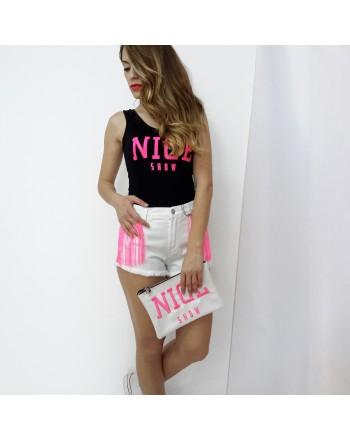 Shorts NICE con frange