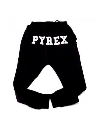 PYREX pantalone logo nero