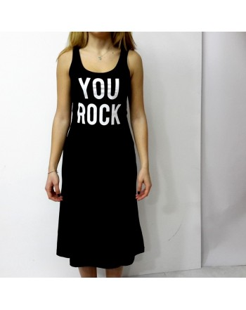 "Abito SHOP*ART nero ""YOU ROCK"""