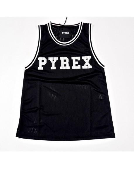 Canotta PYREX nera rete nuova collezione